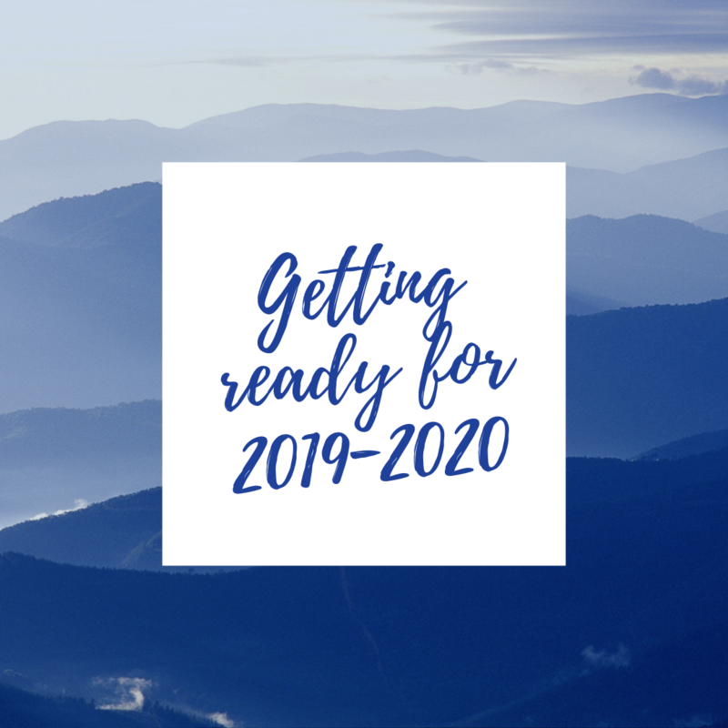 Getting Ready for 2019-2020
