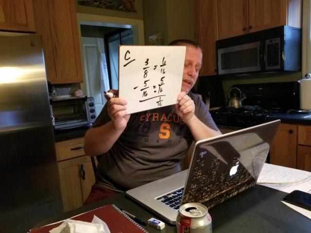 Mr. Herzog teaching in the kitchen