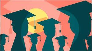 Cap and gown image clipart
