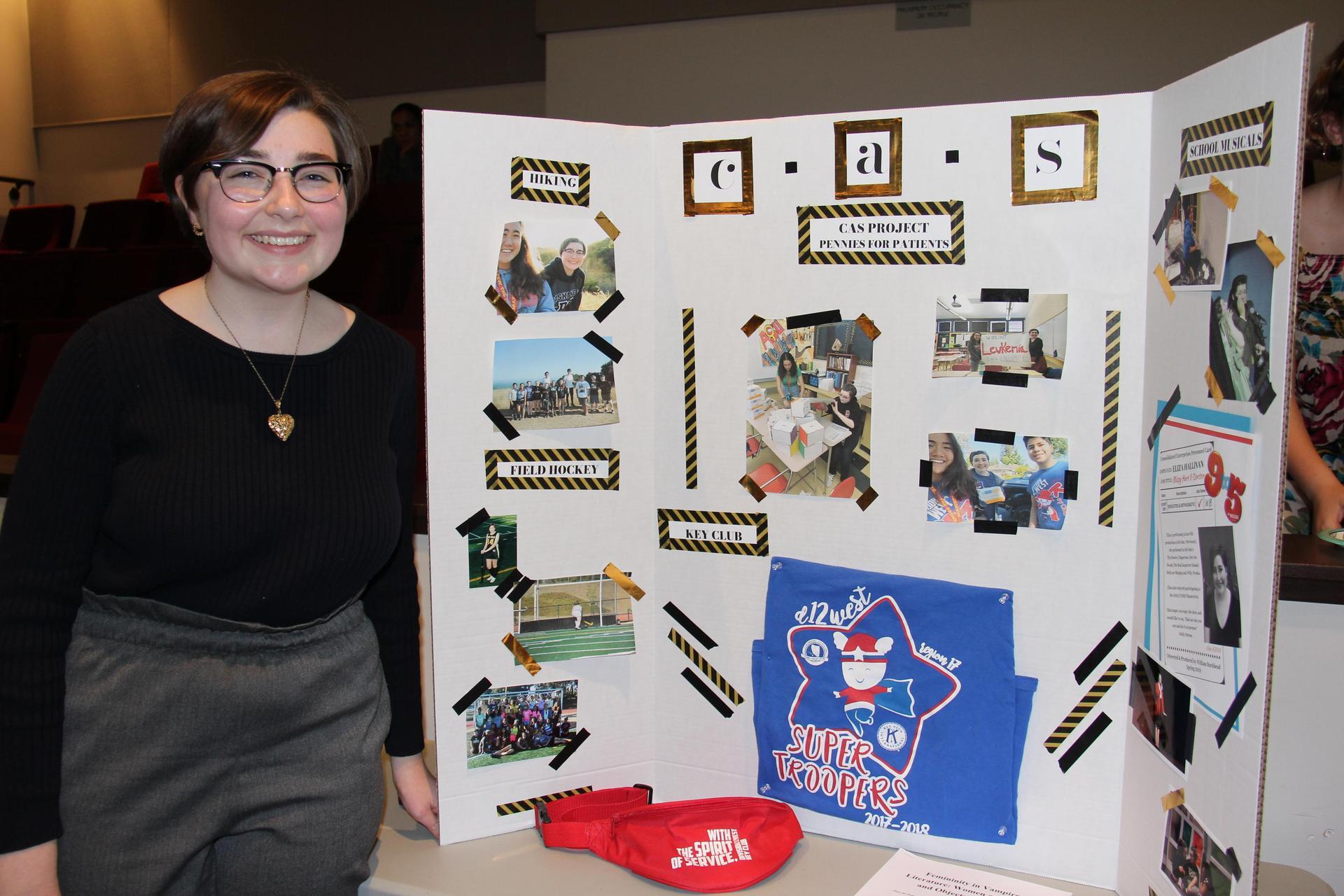 Image of IB Student - Eliza - showcasing her Creativity, Activity & Service experiences