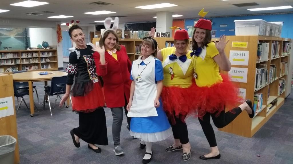 Teachers dress up for Character Day