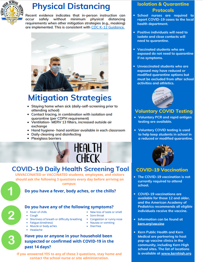 KHSD COVID Infographic