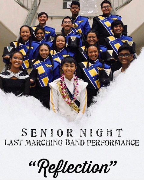 Senior Night Marching Band Flyer