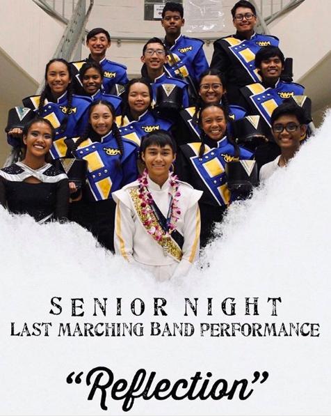 Senior Night Marching Band Flyer