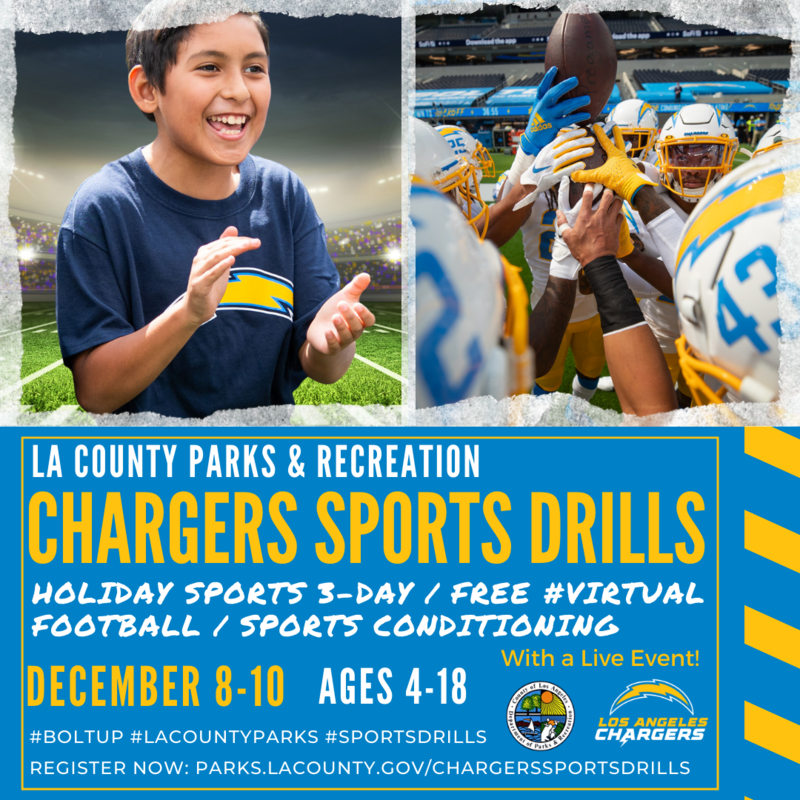 Flyers for LA County/LA Chargers workout
