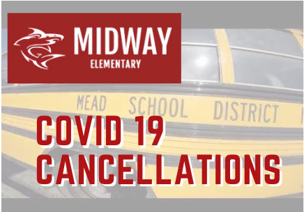 Covid 19 graphic with mead bus background
