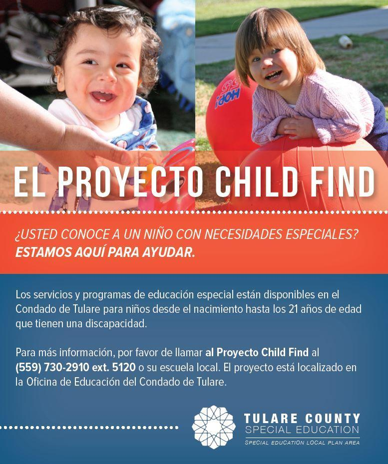 The child find project information- spanish