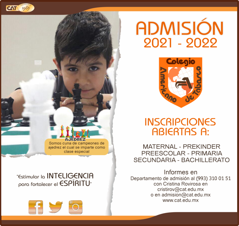 PRIMARIA: ADMISIÓN 2021 - 2022 Featured Photo