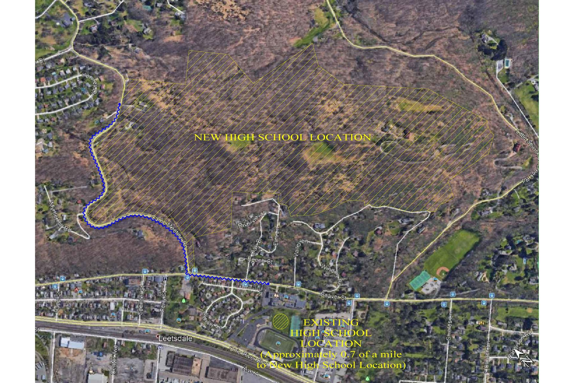 Map of Future Site of QVHS