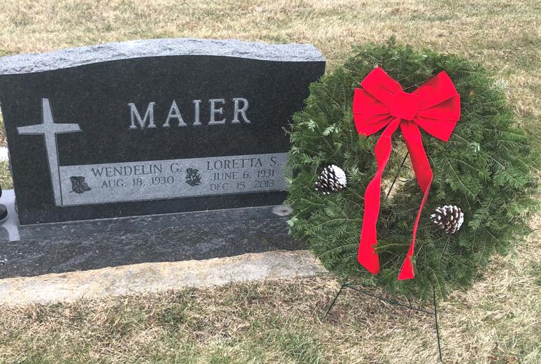 Cemetery Christmas Wreaths Thumbnail Image