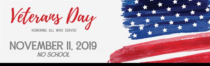 Veteran's Day no school 2019