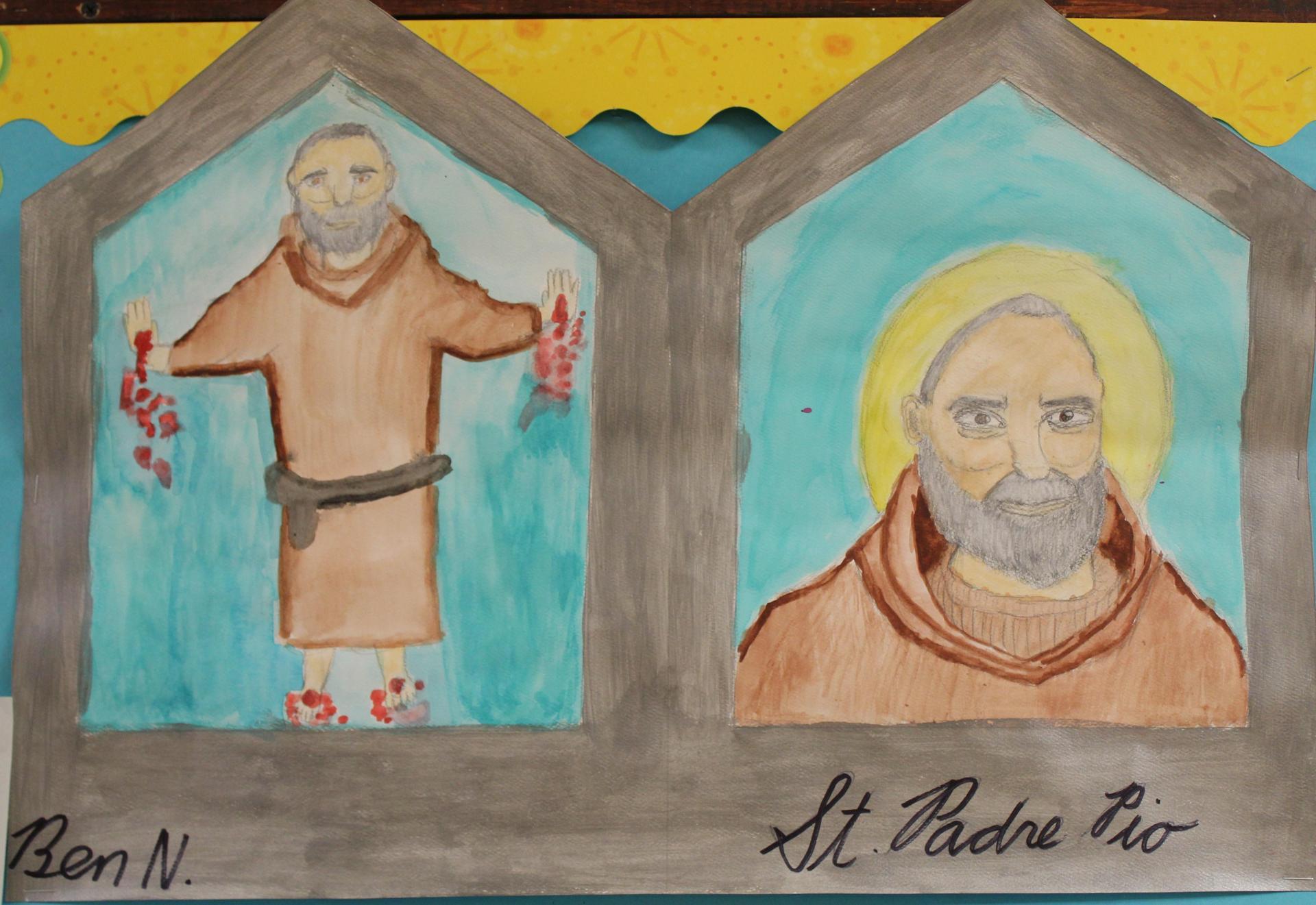 Saint tryptichs
