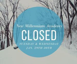 Closed 1/29 - 1/30