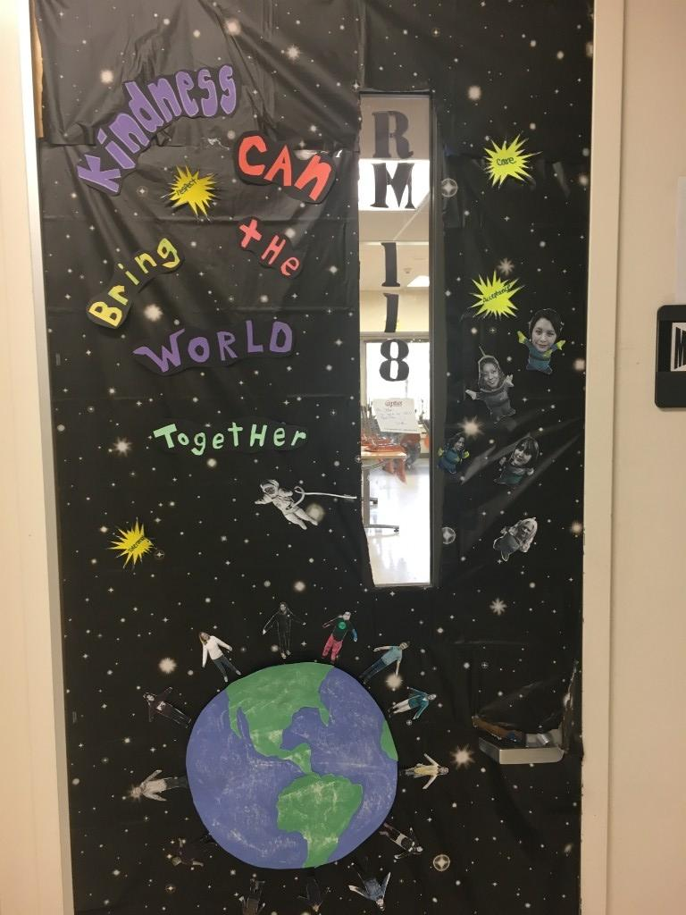 Rm. 118 - Decorated door