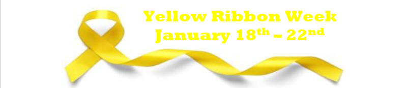 Yellow Ribbon Week January 18 - 22 Thumbnail Image