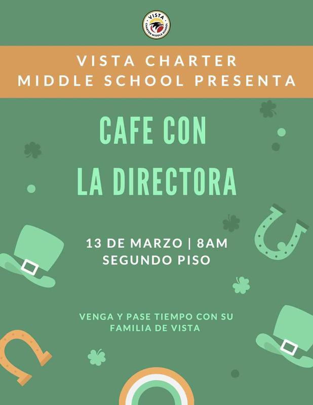 Cafe de la directora flyer