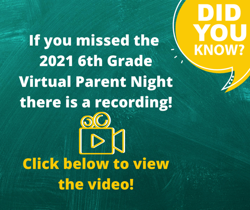 Recording of the Rising 6th Grade Virtual Parent Night Featured Photo
