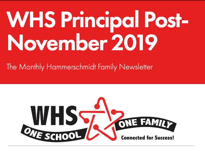 Principal Post Family Newsletter- Nov. 2019 Thumbnail Image