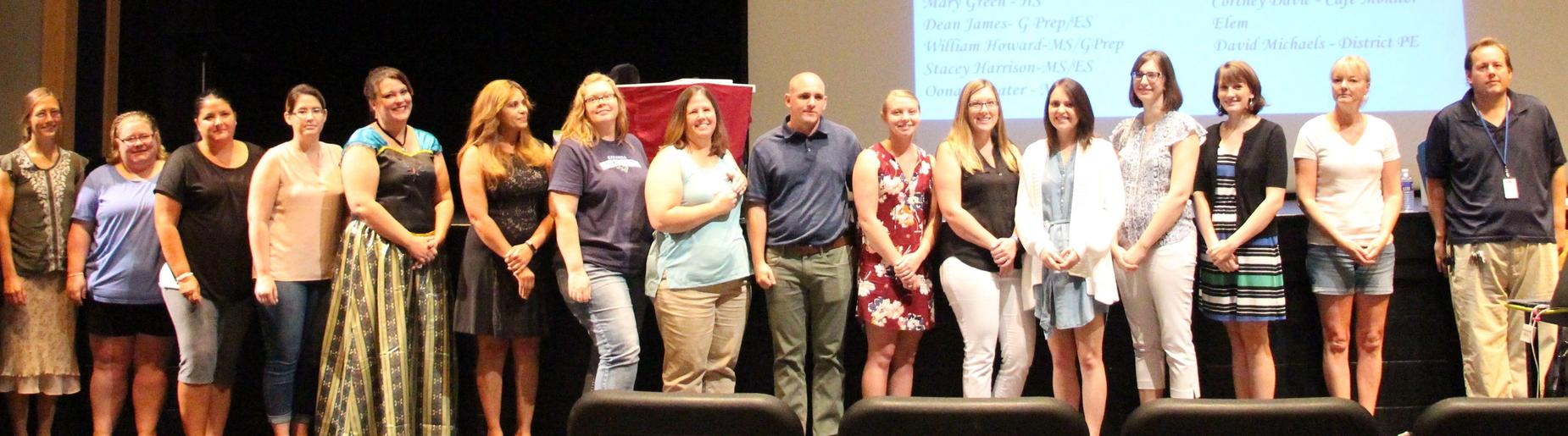 Gananda Central School District new hires for the 2018-2019 school year.