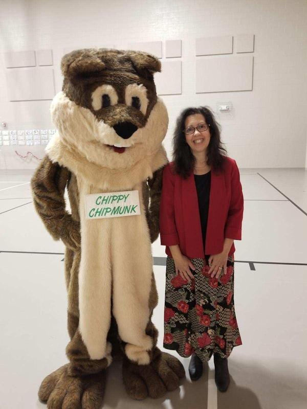 Chippy and author Kathy Miller
