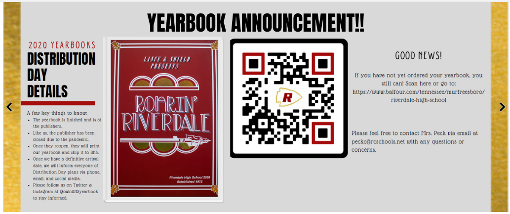 Yearbook Image Announcement with QR Code