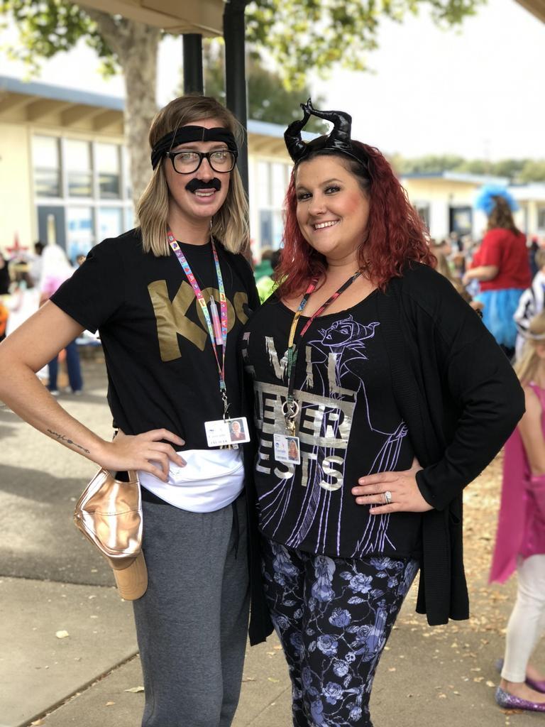 Miss Jones & Mrs. Wyatt dressed up for our Fall Festive