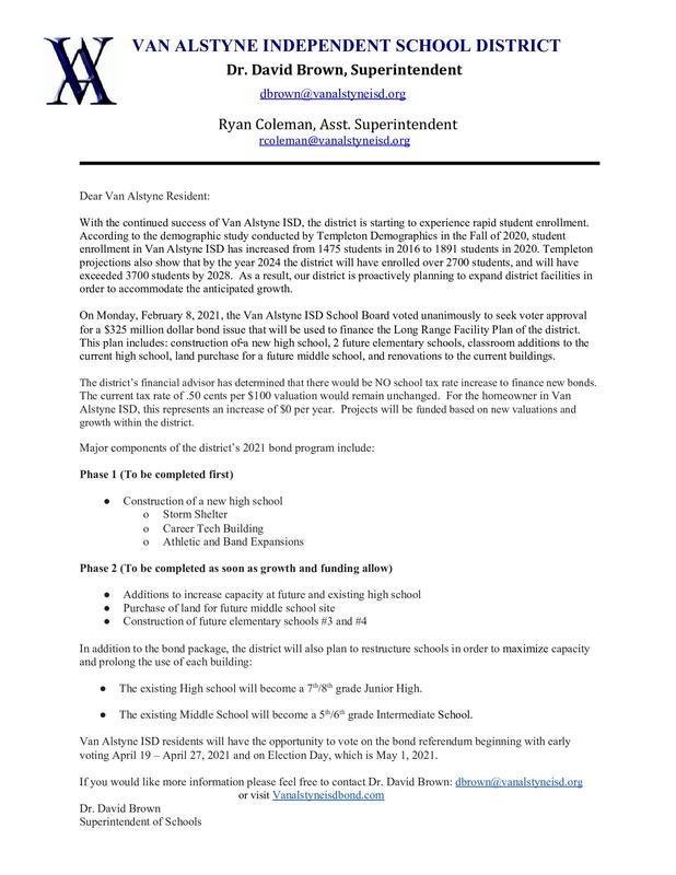 VAISD Bond Information Thumbnail Image