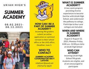 Summer Academy Brochure part 1