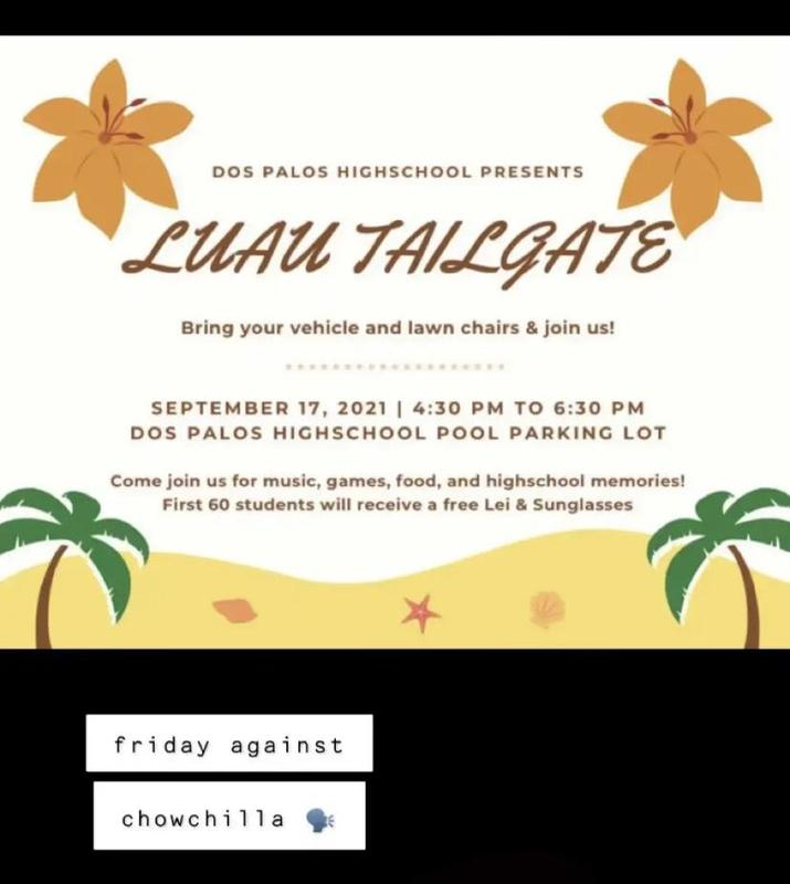 Come Tailgate with us on Friday evening for the DP vs Chowchilla game! Featured Photo