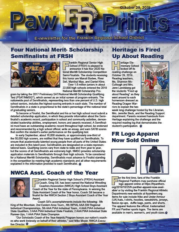 PawPrints newsletter 10.29.19