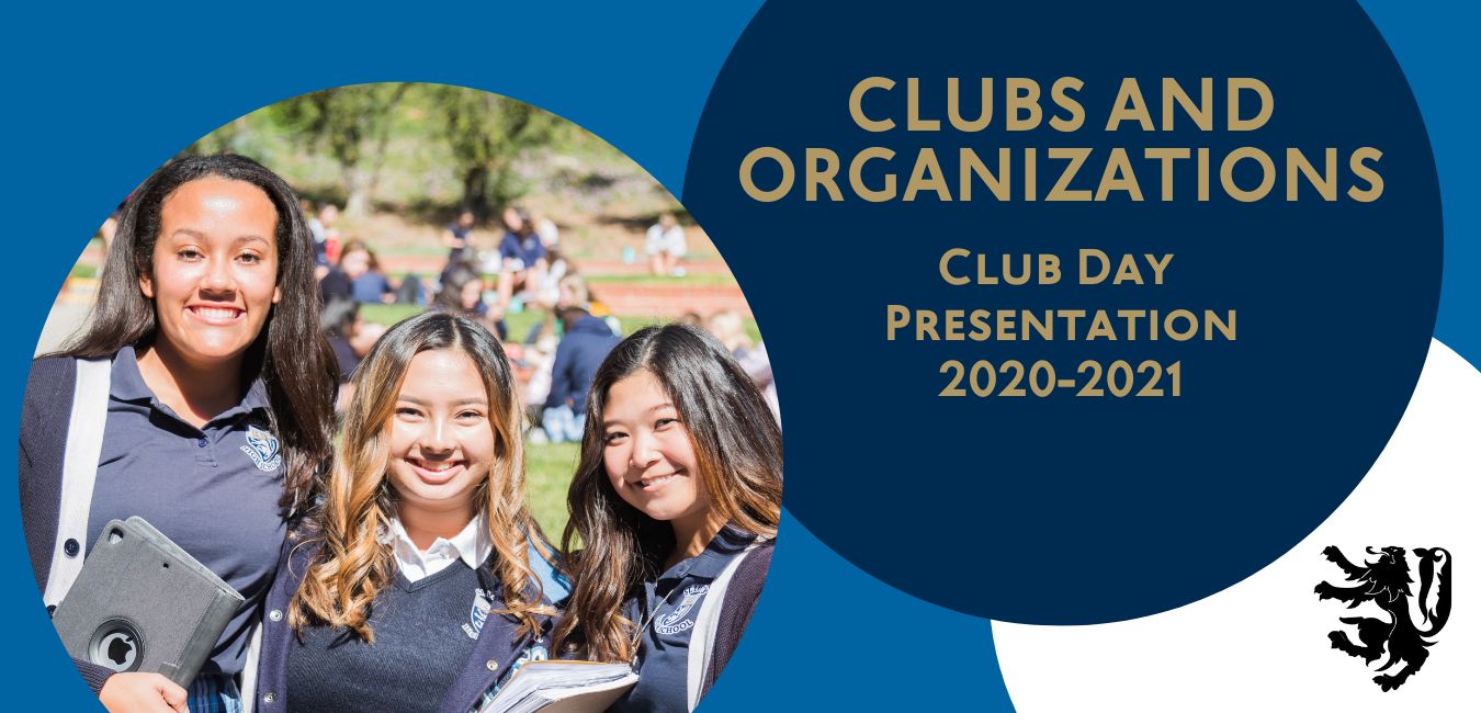 Three St. Lucy's students representing clubs and organizations