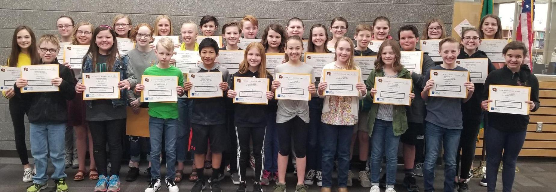 Students of the quarter 6th grade-3rd quarter