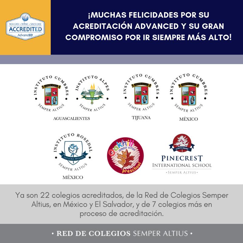 Cinco colegios más de la Red Semper Altius acreditados internacionalmente Featured Photo