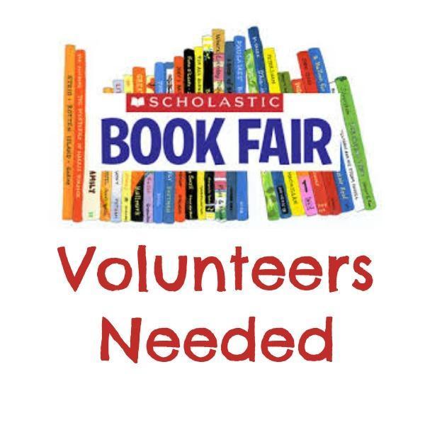 book fair volunteer sign