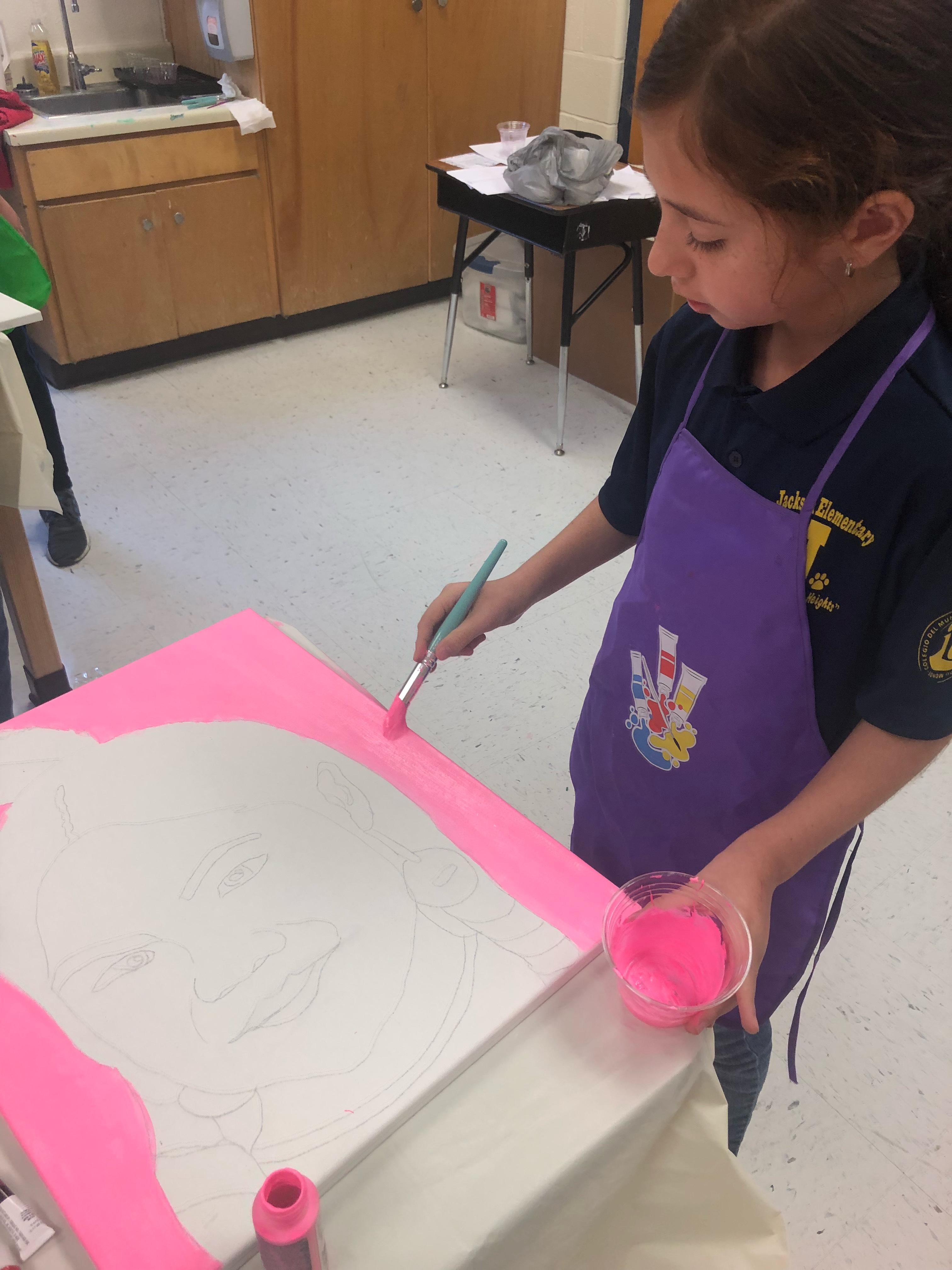 Students creating art.