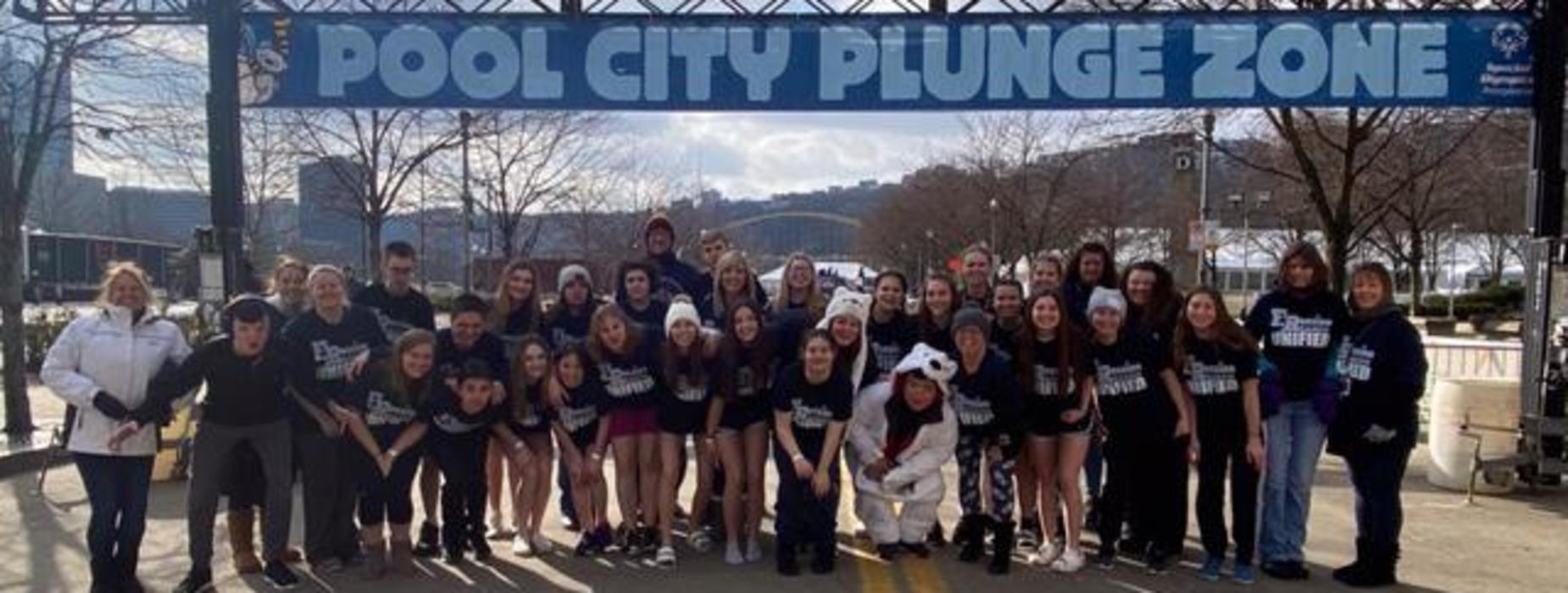 Franklin Regional's Polar Plunge Team - 2nd Place