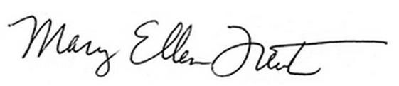 Mary Ellen Trent signature