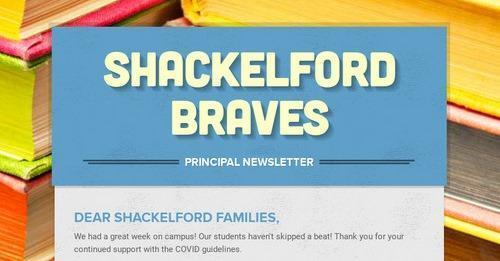 header of the Shackelford Braves newsletter