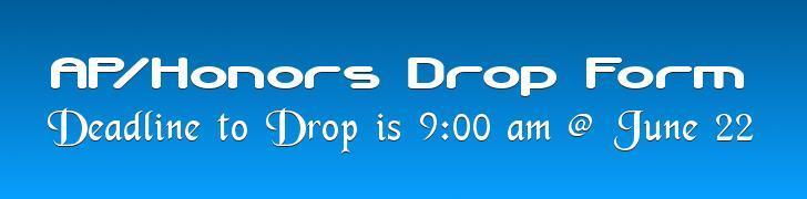 Ap/Honors Drop Form