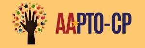 Yellow background with red and blue writing saying AAPTO-CP.