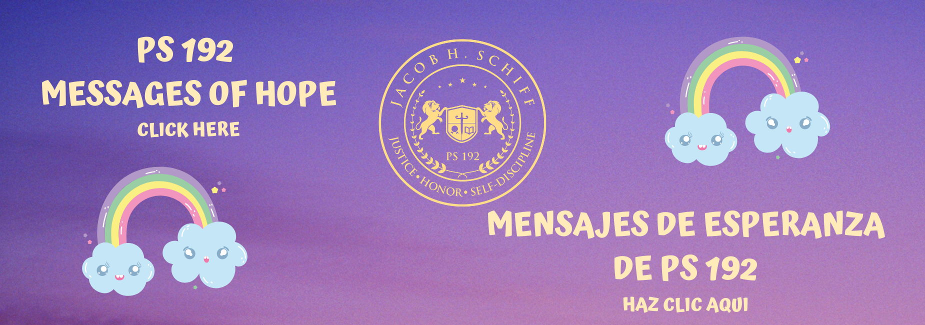 Messages of Hope Banner Bilingual