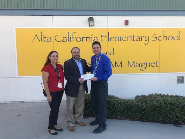 State Assembly Member Adrin Nazarian awards $5,000 to Alta. Thumbnail Image