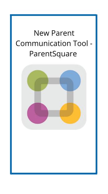 New Parent Communication Tool - ParentSquare with the parent square logo
