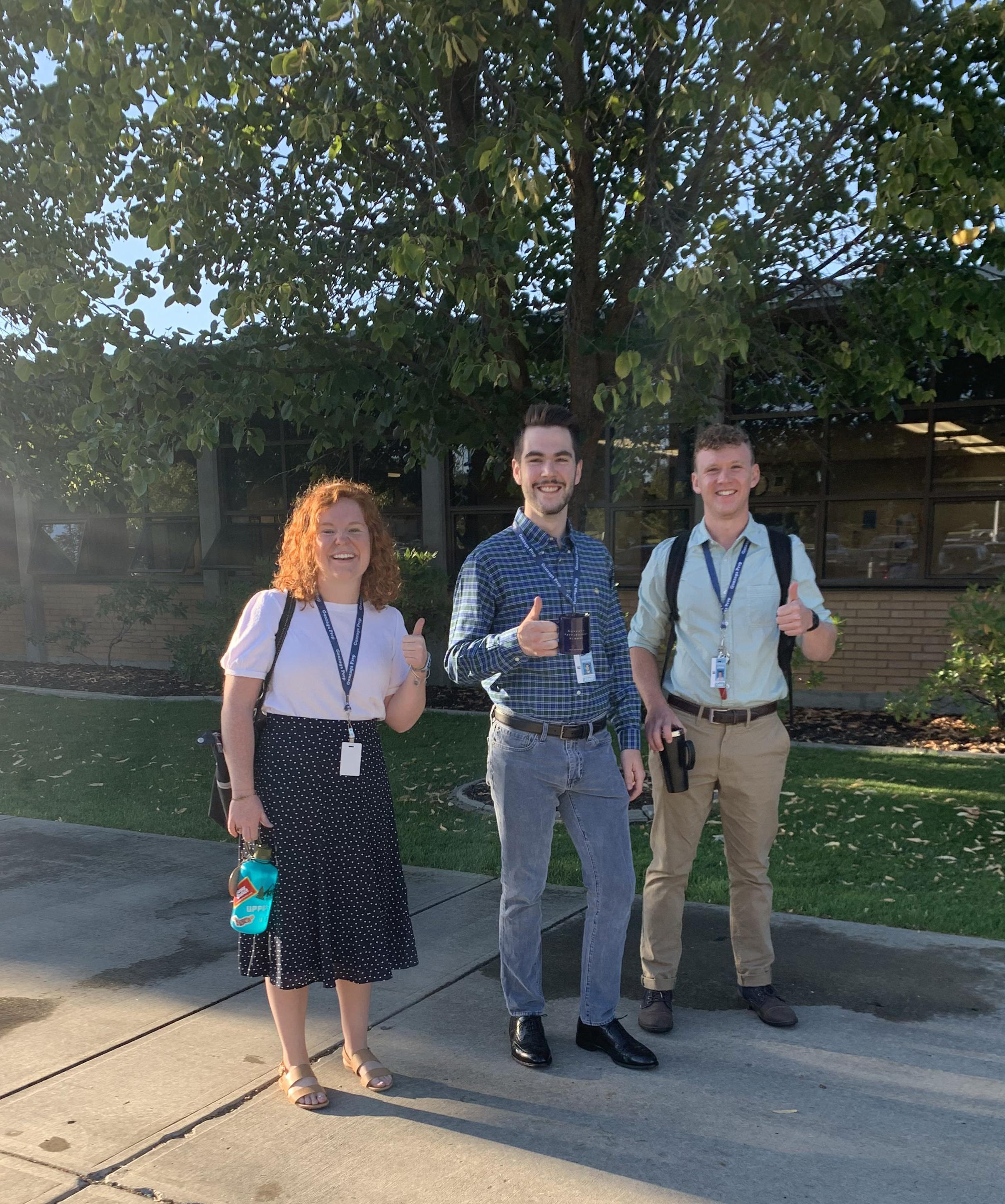 The 2019-2020 Alumni Service Corps volunteers: Hailey, Jack, and Liam.
