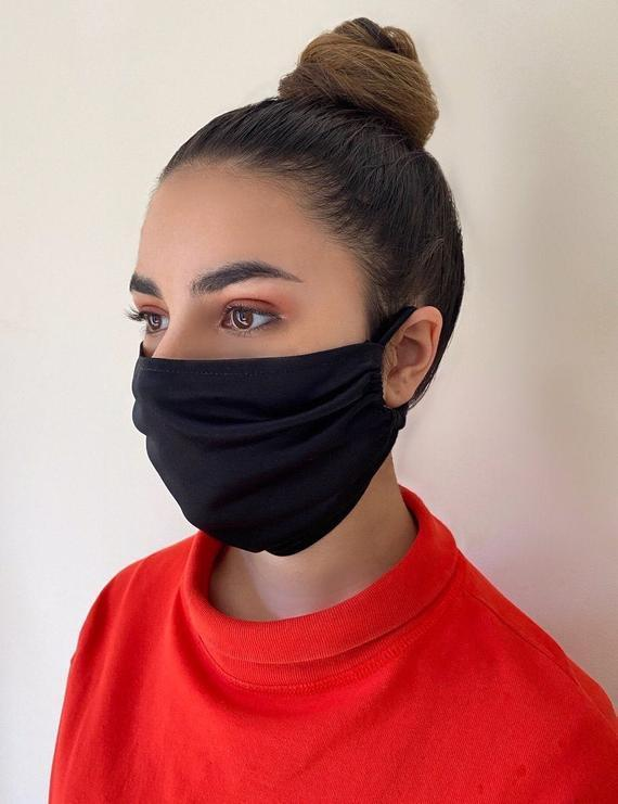 face mask with ear loops