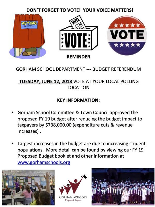 One last reminder to get out and VOTE TOMORROW (June 12)! Thumbnail Image