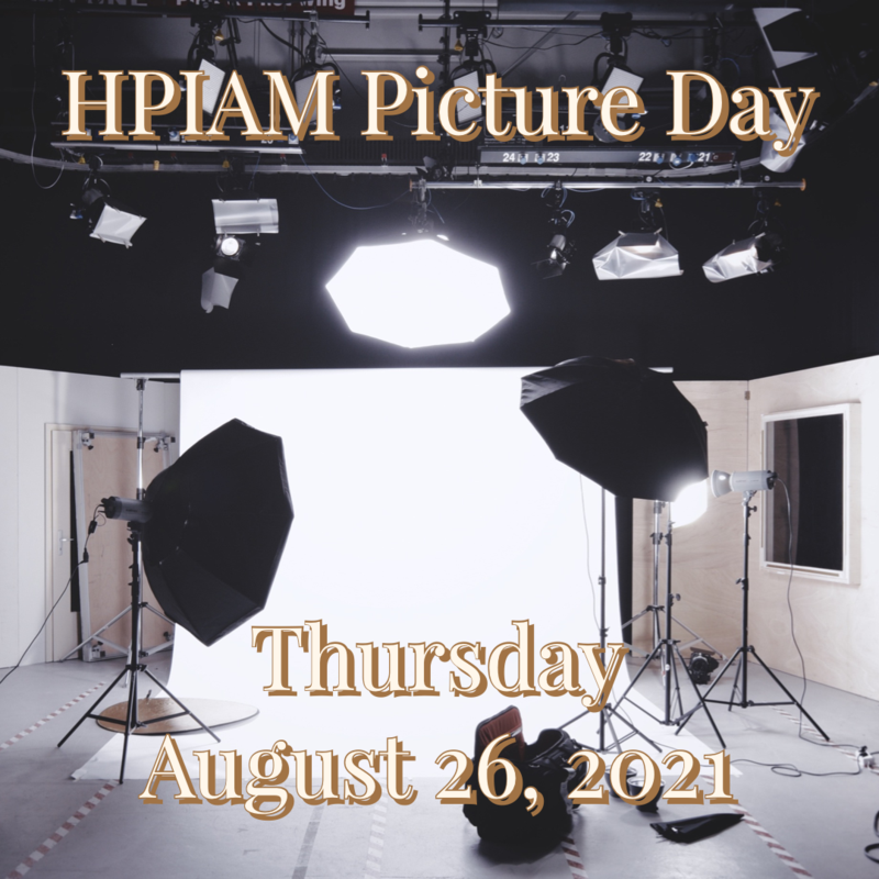 HPIAM Picture Day is Thursday August 26, 2021 Thumbnail Image