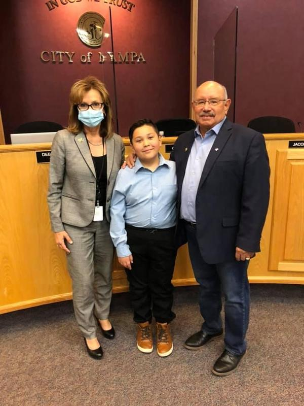 Liam and City of Nampa leadership