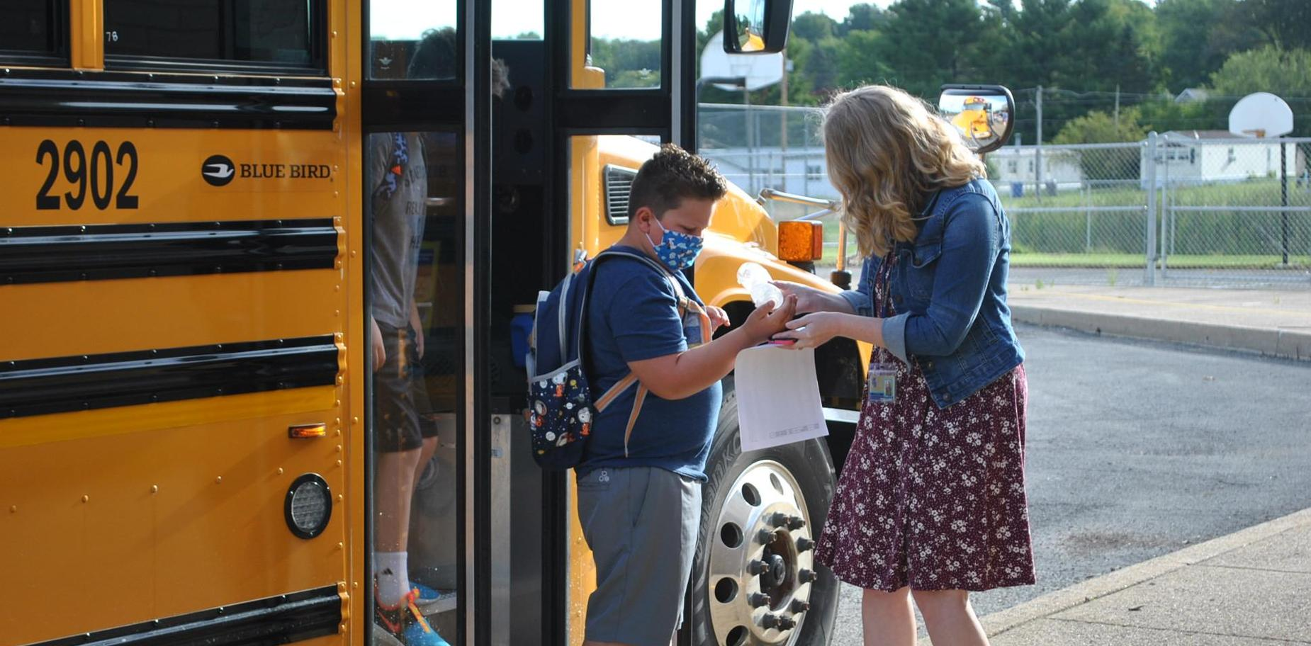Students arriving for first day of school