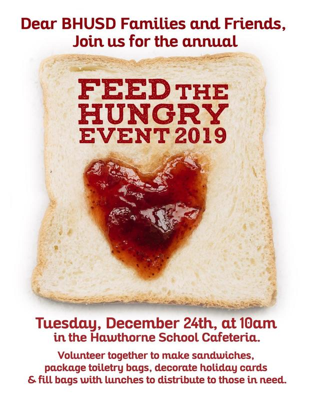 Annual Feed The Hungry Event on Dec 24th at Hawthorne Featured Photo